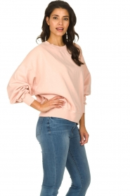 American Vintage |  Sweater with round collar Wititi | pink   | Picture 4