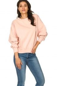 American Vintage |  Sweater with round collar Wititi | pink   | Picture 2