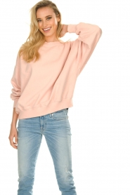 American Vintage |  Oversized sweatshirt Wititi | pink   | Picture 2