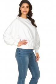 American Vintage |  Oversized sweatshirt Wititi | white  | Picture 4