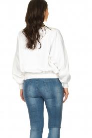American Vintage |  Oversized sweatshirt Wititi | white  | Picture 5