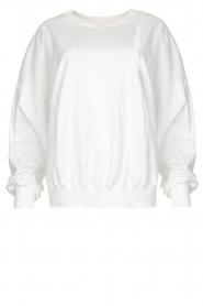 American Vintage |  Oversized sweatshirt Wititi | white  | Picture 1