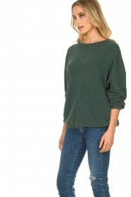 American Vintage |  Oversized sweater Hapylife | green   | Picture 3