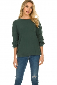 American Vintage |  Oversized sweater Hapylife | green   | Picture 2