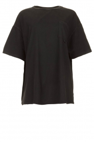 American Vintage |  Basic T-shirt Rompool | black  | Picture 1