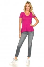 American Vintage |  Basic T-shirt Kobibay | pink  | Picture 3