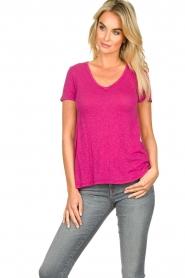 American Vintage |  Basic T-shirt Kobibay | pink  | Picture 4
