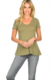 American Vintage |  Basic T-shirt Kobibay | green   | Picture 2