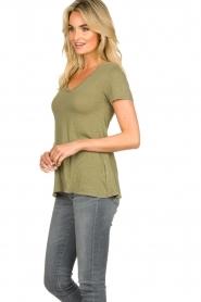American Vintage    Basic T-shirt Kobibay   green     Picture 4