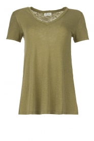 American Vintage |  Basic T-shirt Kobibay | green   | Picture 1