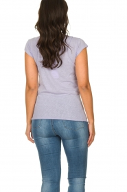 American Vintage    Basic T-shirt Lorkford   purple     Picture 4