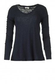 Basic V-hals top Kobibay | blauw