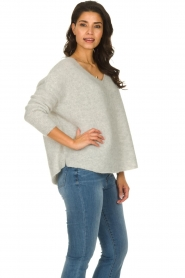 American Vintage |  Long sleeve top Vacaville | grey  | Picture 4