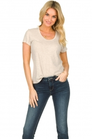 American Vintage |  Basic round neck T-shirt Jacksonville | naturel  | Picture 2