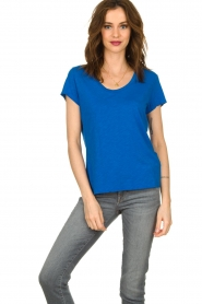 American Vintage |  Basic T-shirt Jacksonville | blue  | Picture 2