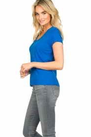 American Vintage |  Basic round neck T-shirt Jacksonville | blue  | Picture 5