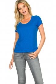 American Vintage |  Basic round neck T-shirt Jacksonville | blue  | Picture 4