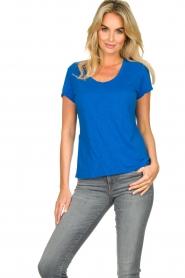American Vintage |  Basic round neck T-shirt Jacksonville | blue  | Picture 2
