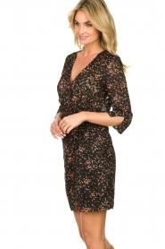 Freebird |  Lurex floral dress Odette | black  | Picture 5