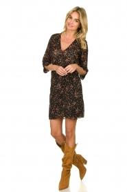 Freebird |  Lurex floral dress Odette | black  | Picture 3
