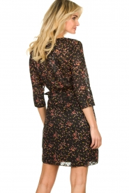 Freebird |  Lurex floral dress Odette | black  | Picture 6
