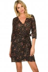 Freebird |  Lurex floral dress Odette | black  | Picture 2