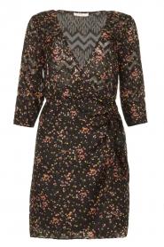 Freebird |  Lurex floral dress Odette | black  | Picture 1