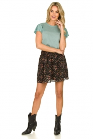 Freebird |  Floral skirt with lurex Fee | black  | Picture 3