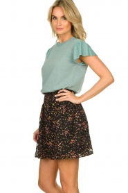 Freebird |  Floral skirt with lurex Fee | black  | Picture 4