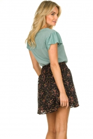 Freebird |  Floral skirt with lurex Fee | black  | Picture 5