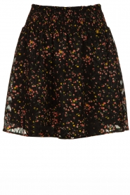 Freebird |  Floral skirt with lurex Fee | black  | Picture 1