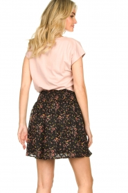 Freebird |  Floral skirt with lurex Fee | black  | Picture 6