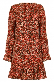 Freebird |  Leopard printed dress Diba | red   | Picture 1