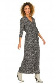 Freebird |  Maxi dress with print Vikas | black  | Picture 3