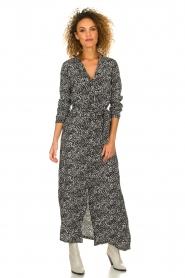 Freebird | Maxi jurk met print Vikas | zwart   | Afbeelding 2