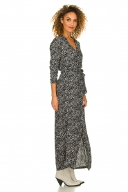 Freebird |  Maxi dress with print Vikas | black  | Picture 4