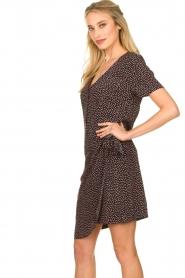 Freebird |  Print dress with wrap skirt Kady | black  | Picture 5