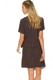 Freebird |  Print dress with wrap skirt Kady | black  | Picture 6