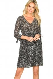 Freebird |  zwart | Print dress Winnie   | Picture 4
