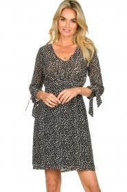 Freebird |  zwart | Print dress Winnie   | Picture 5