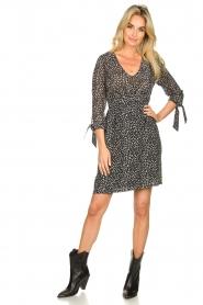 Freebird |  zwart | Print dress Winnie   | Picture 3