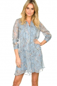 Freebird |  Floral dress Celeste | blue  | Picture 2