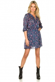 Freebird | Dress with flower print Gianna | blue  | Picture 3