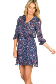 Freebird | Dress with flower print Gianna | blue  | Picture 4