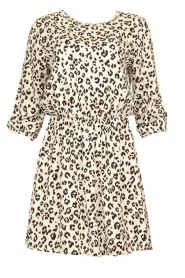 Freebird |  Dress with leopard print Minne | zwart  | Picture 1
