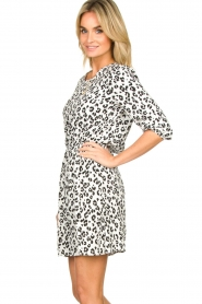 Freebird |  Dress with leopard print Minne | zwart  | Picture 4