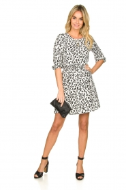 Freebird |  Dress with leopard print Minne | zwart  | Picture 3