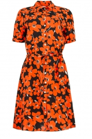 Freebird | Dress with flower print Suzy | red  | Picture 1