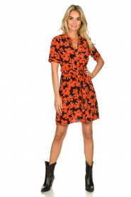 Freebird | Dress with flower print Suzy | red  | Picture 3
