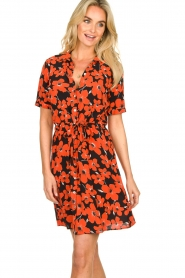 Freebird | Dress with flower print Suzy | red  | Picture 4